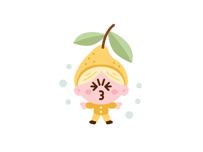 Sour Kid Lemon vector kawaii food sweet cute yellow emoji emoticon face children graphic design kid logo character funny cartoon mascot flat illustration sour