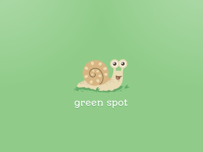 Green Spot green garden logo gardening spot snail animal eco friendly bio