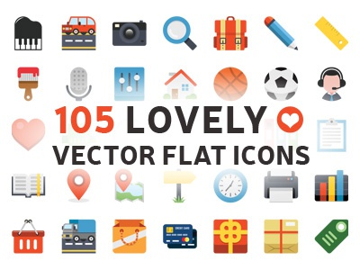 105 Lovely Vector Flat Icons web icons flat icons vector icons colorful icons office icons ecommerce icons business icons folders icons users icons design icons media icons emoticons icons
