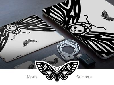 Sticker Moth background stickers laptop ink illustration illustration sticker abstract negative space print ink moth tattoo