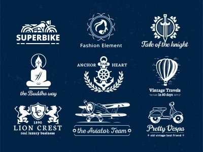 Vintage Creative Logo Badges Bundle