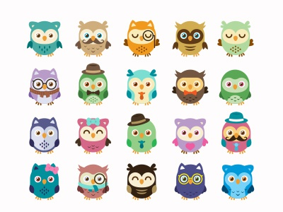 Owls Mascot by Manu on Dribbble