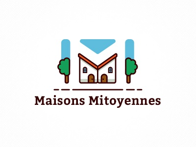 Maison Mitoyeness creative logo logo house home logo cottage construction logo building logo architecture logo letter logo real estate realty logo architect monogram