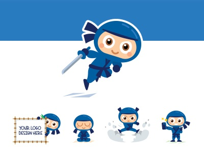 cute ninja mascotmanu - dribbble