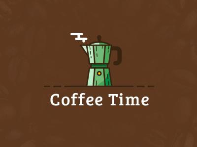 Coffee Time italy breakfast drink icon cappuccino moka illustration logo espresso mocha coffee shop coffee