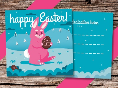 Happy Easter! Flyer and Invitation mascot print background party flyer kid easter egg square flyer invitation scrapbook bunny invite flyer