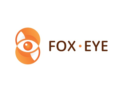 Fox Eye web watch creative design human geometric simple mark negative space fox animal logo mark brand eye