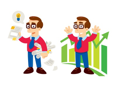 Business Manager Mascot character salesman office accountant engineer business employee staff cartoon manager mascot ceo