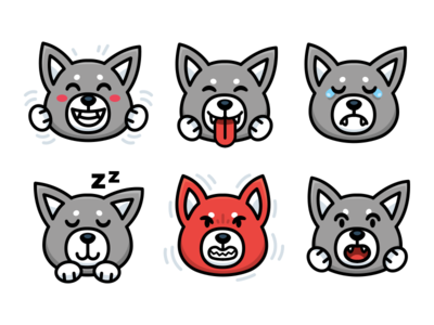 Wolf character Emoji