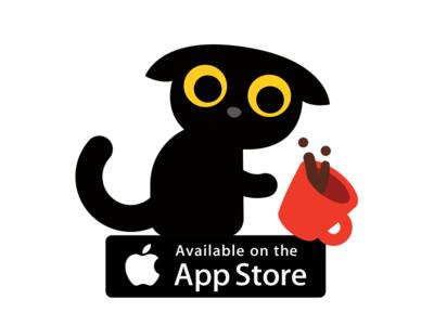 Blackie the Cat emoticon emoji sticker flat app application cute creative minimal funny sweet kitty cat