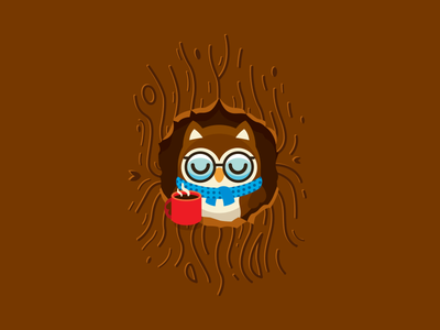 Cute Owl Home illustration cartoon t-shirt winter cute woodland wood coffee cup boho owl home