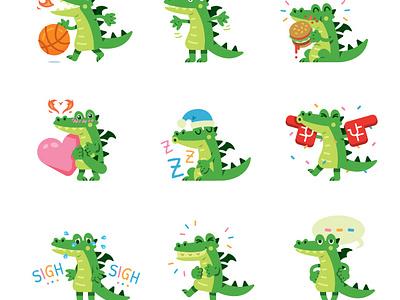 Teen Dragon Emoji App funny icon design sticker fantasy art creative animal illustration fantasy green mascot character cute fun funny app flat cartoon emoticon emoji teen dragon