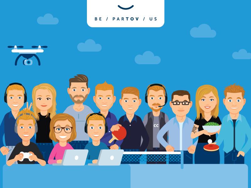 tussendoor.nl - Illustration 14 studio avatar web website people cartoon flat illustration landing page business office characters team
