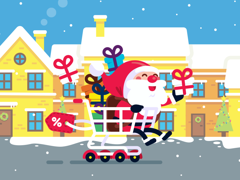 my santa claus character animated in a videohive video by daniele check the video here