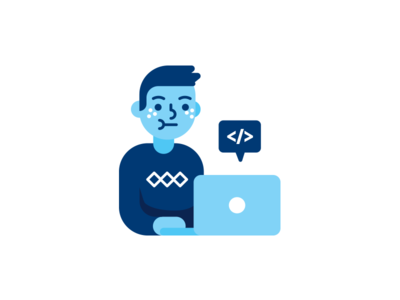 Programmer icon character