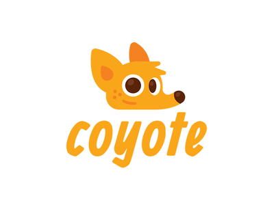 Coyote Logo Design sweet logo design sticker simple icon character cartoon mascot flat smart face creative funny illustration cute logo brand mark animal fox coyote