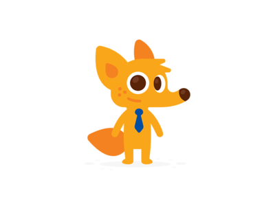 Coyote Business Mascot design sticker simple icon logo cartoon character creative logo brand mark smart kawaii cute business funny illustration flat mascot animal fox coyote