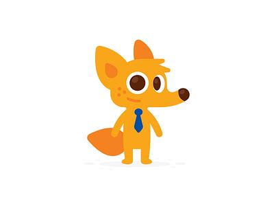 Coyote Business Mascot design sticker simple icon logo cartoon character creative logo brand mark smart kawaii cute business funny illustration flat mascot animal fox coyote