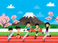 Illustration for Run.jp