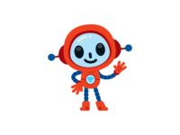 Cute and Funny Robot Mascot
