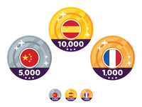Icons Medal Badge for Language Learning App