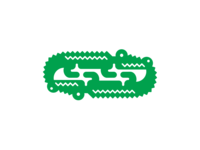 Twin Crocs logo design
