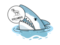 T-shirt Illustrations for Icelandic Street Food Restaurant