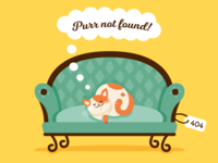 404 Error Page - Purr Not Found