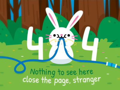 404 Error Page - Bunny