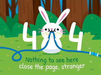 404 Error Page - Bunny children emoji clipart adorable kawaii bunny rabbit woodland 404 error page fun sweet creative cute animal character funny flat cartoon mascot illustration
