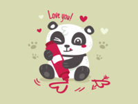 Panda Valentine's Day Dribbble
