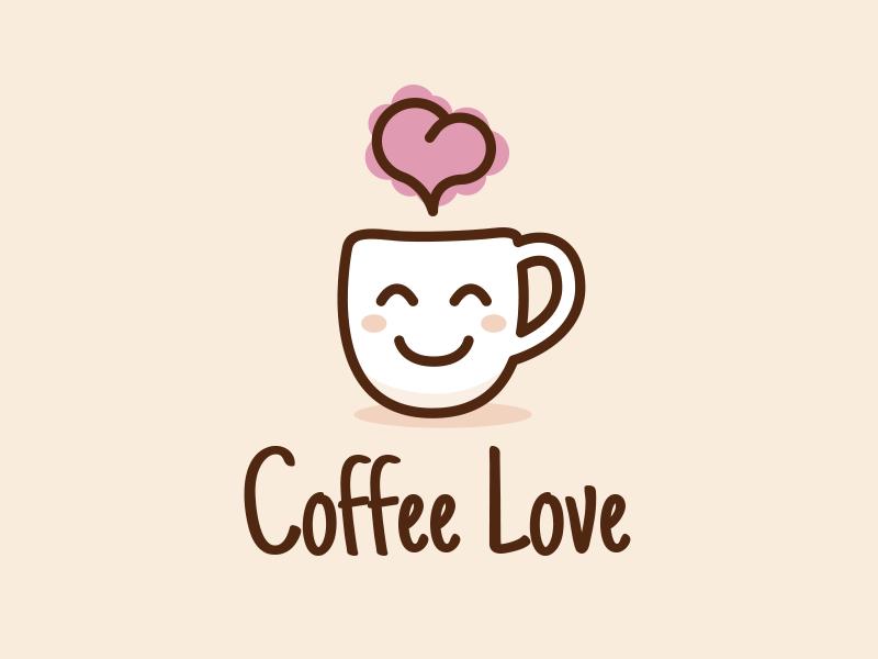 Coffee Love Cute Logo Design by Manu on Dribbble