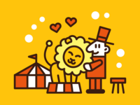 Circus Lion And Lions Tamer