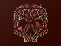 Spring Floral Skull