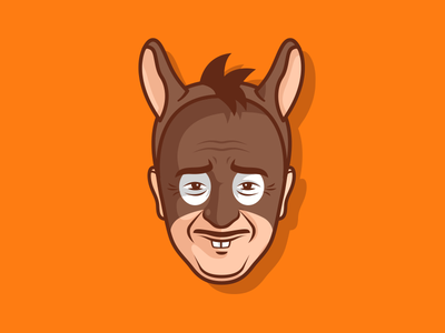 Donkey Vinny happy halloween freak silly funny spooky cartoon stickers sticker mule scary rebound playoff outline donkey illustration horror halloween custom giveaway costume design contest character