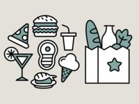 Food Icons Design