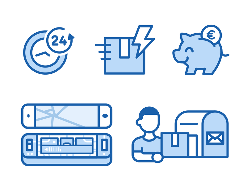 Icons For European Repair Phone Company repairs application phone app ux digital shipment piggy bank animal repair phone outline vector ui design creative flat cartoon illustration icons icon