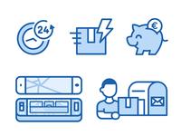 Icons For European Repair Phone Company