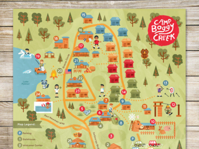 Camp Boggy Creek Map Design