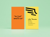 Minute Cup business card design