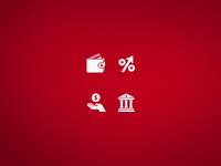 Banking icons WIP