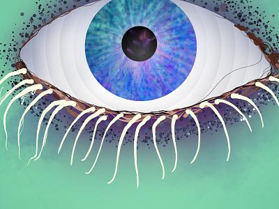 Eye eye vivid colors illustration