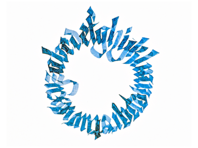 Fraktur calligram