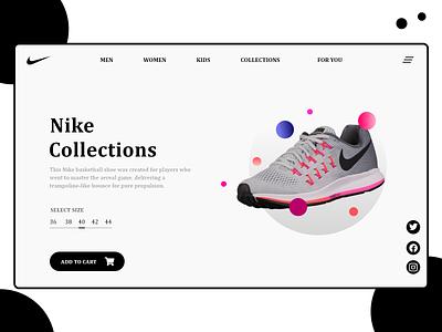 Nike shoes collection - ux ui design nike products nike products nike air xd ui kit figma ui designer userinterface uidesign uxdesigner user experience uxdesign productdesign adobexd illustration xd design design