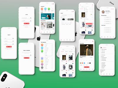 E-commerce app full pages - ux ui design daily design challenge uitrends ui kit ecommerce design e-commerce app artboard studio work from home figma adobexd ui designer uidesign userinterface ui uxdesigner uxdesign