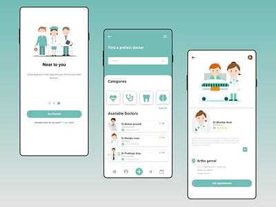 Doctor appointment experience - ux ui design. branding ux ui app adobexd mobile ui xd design design