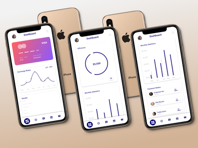 Bank dashboard design - Mobile app - ux ui. branding mobile ui