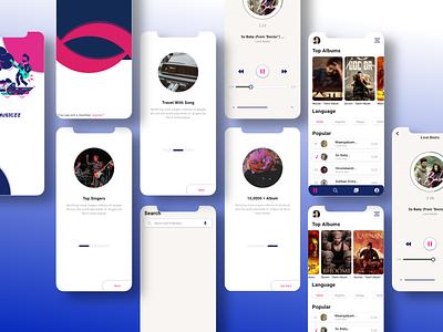 Music app ui design xd design mobile ui branding