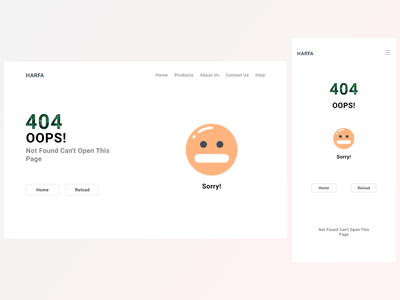 404 Error page design - ui illustration adobexd mobile ui branding graphic design