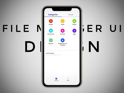 File Manager app - ui design adobe creative could appliction product design branding file manager ios mobile app ux ui ui